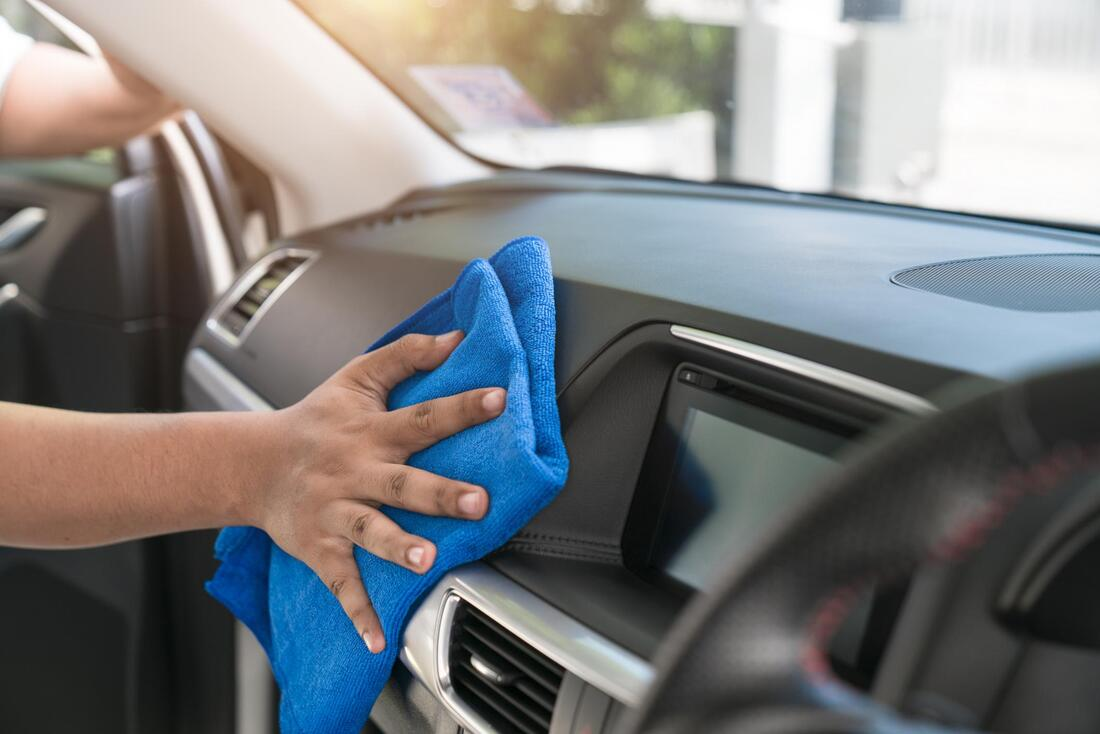 wiping inside the car